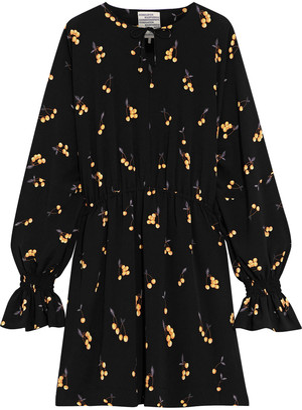 Baum und Pferdgarten Ariana Gathered Printed Crepe Mini Dress