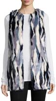 T Tahari Women's Dorinda Faux Fur Vest