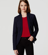 LOFT Textured Collarless Blazer