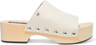 Sergio Rossi Studded Leather Platform Sandals