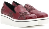 Stella McCartney Glitter Platform Slip-on Sneakers