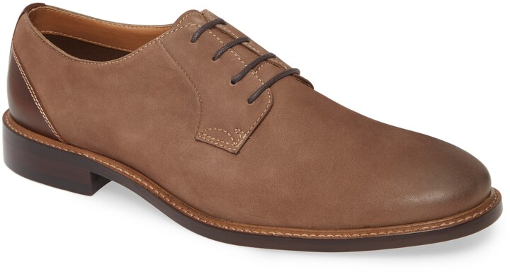 Nordstrom Men's Shop Charles Plain Toe Derby Shoes (Brown Nubuck)