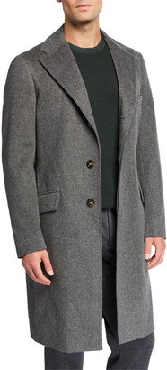Loro Piana Men's Chesterfield Solid Cashmere Topcoat