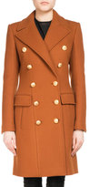 Balmain Double-Breasted Wool-Cashmere Coat