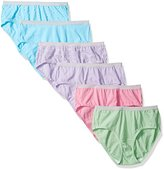 Fruit of the Loom Women's 6 Pack Low Rise Heather Brief