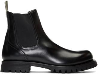 Officine Creative Black Rushden 3 Chelsea Boots