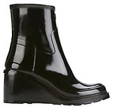 Hunter Refined Mid Wedge Glossy Rain Boots