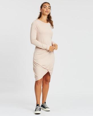 Silent Theory Long Sleeve Twisted Tee Dress