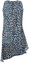 Derek Lam leopard print high low top - women - Silk - 36