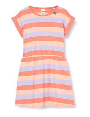 Fred's World by Green Cotton Girl's Multi Stripe Dress