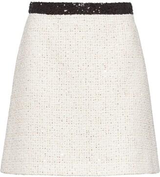 Miu Miu Sequinned Tweed Skirt