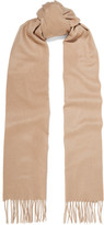 Johnstons of Elgin Fringed Cashmere Scarf - Sand