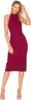 Lover Violet Fitted Halter Dress