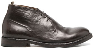 Officine Creative brushed lace-up Desert boots