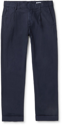 NN07 Codo Tapered Pleated Lyocell, Linen And Cotton-Blend Twill Trousers