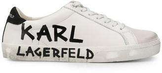 Karl Lagerfeld Paris Logo Print Sneakers