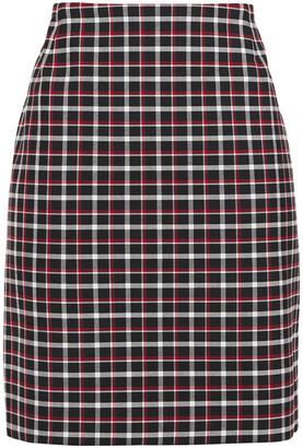 Akris Checked Woven Mini Skirt