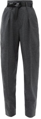 Isabel Marant Racomisl Pleated Pressed-wool Tapered Trousers - Grey