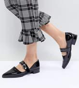 Monki Patent Pointed Flat Shoe