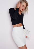 Missguided Faux Leather Mini Skirt White