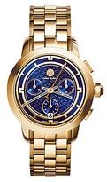 Tory Burch Tory Watch, Gold-Tone/Navy Chronograph, 37 Mm