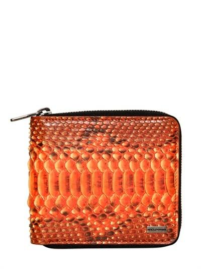 Dolce & Gabbana Python Zip Around Wallet