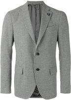 Lardini houndstooth pattern blazer - men - Cotton/Linen/Flax/Polyester/Cupro - 48
