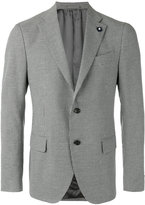 Lardini houndstooth pattern blazer - men - Cotton/Linen/Flax/Polyester/Viscose - 50