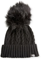 Sacai The North Face®; Cable Knit Hat with Faux-Fur Pompom