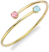 Kiki McDonough Eternal Blue Topaz & Pink Tourmaline Twist Bangle