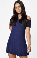 La Hearts Smocked Off-The-Shoulder Dress