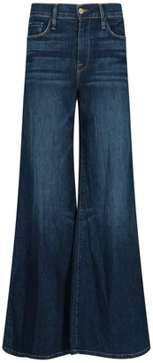 Frame High-Waist Flared Jeans