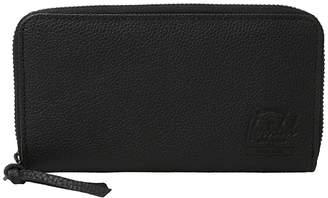 Herschel Thomas Leather (Update) RFID (Black Pebbled Leather) Wallet Handbags