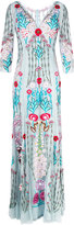 Temperley London Woodland V-neck dress