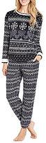 Kensie Heart Fair Isle Microfleece Pajamas