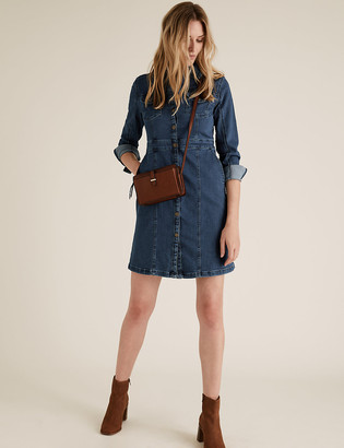 Marks and Spencer Denim Mini Shirt Dress