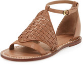 Bernardo Carrie Woven Leather Sandal, Taupe