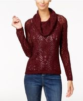 INC International Concepts Cowl-Neck Pointelle Sweater, Only at Macy's