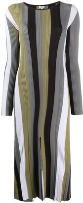 Loewe Ribbed Stripe Knit Midi Dress