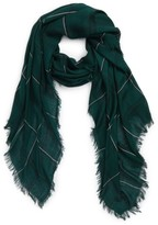 David & Young Women's Grid Print Oblong Scarf
