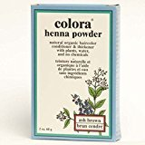 Colora Henna Powder Natural Organic Hair Color Ash Brown - 2 oz.
