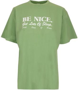 Sporty & Rich Be Nice Slogan Print T-Shirt