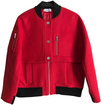 Courreges Red Wool Jacket for Women