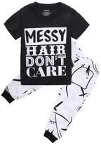 Alicado Kids Baby Girls Tops+Long Pants 2PCS Outfit Clothes Set (5-6T)