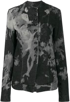 Masnada tie-dye fitted jacket