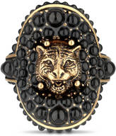 Gucci Feline ring with black resin beads