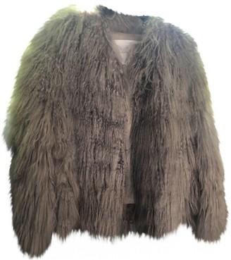 Francesco Scognamiglio Grey Faux fur Jacket for Women