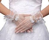 Eyekepper Women's Wrist Length Party Wedding Bridal Fishnet Lace Gloves
