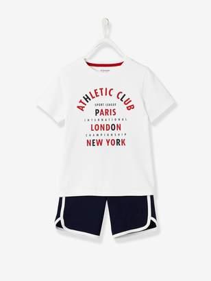 Vertbaudet Sports combo: T-shirt + Bermuda Shorts, for Boys
