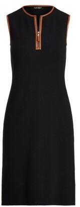 Lauren Ralph Lauren Ralph Lauren Sleeveless Quarter-Zip Dress